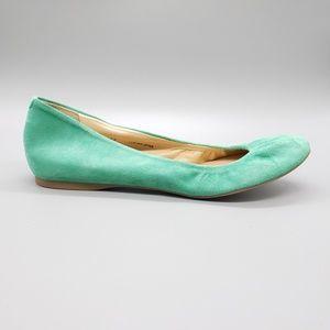 J. Crew - Cece - Mint Green suede ballet flats 8.5